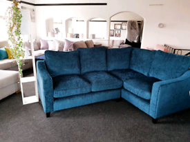 NEW Ruby Teal Right Hand Corner Sofa DELIVERY AVAILABLE