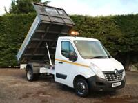 """2016 (66) RENAULT MASTER CCML35 R.W.D 10'9"""" ALLOY SIDED TIPPER PICK UP 125BHP"""