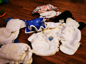 Variety cloth diapers... Rarely used