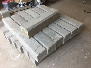 Driveway Cement curbing 12 pieces