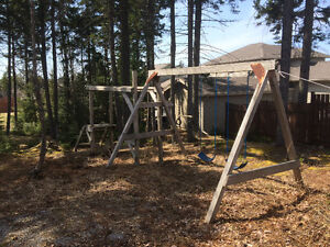 Play Structure & Swing Set.