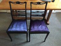 Four Beautiful Detailed Chairs