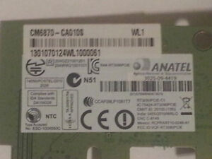 Anatel WN7601R-H1 Wireless PCI-e WLAN Card. The WN7601R-H1