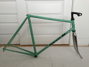 Celeste Bianchi Frame & Fork and Campagnolo Wheels