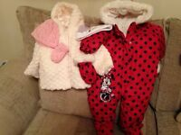 New Minnie Mouse snowsuit & New TU Fur Jacket with Hats