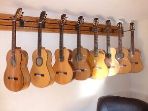 8 nylon string guitars, left handed