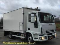 2007 Iveco Eurocargo 75e18 Box [ Mobile Workshop ] van A/con,Winch 7.5ton 4x2
