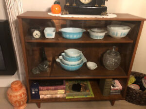 MCM Wood and Glass Display Cabinet