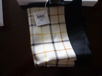 COACH Tattersall square scarf 27x27