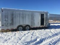 Royal enclosed insulated car/ sled trailer