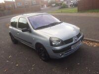 Renault Clio 1.2, 2003, silver, Manuel, 3 Door hatch, drives well, 1 yrs mot,