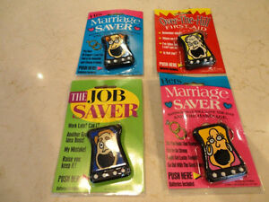 Vintage RARE 90's Talking Keychains - They work! They are Funny Kitchener / Waterloo Kitchener Area image 1