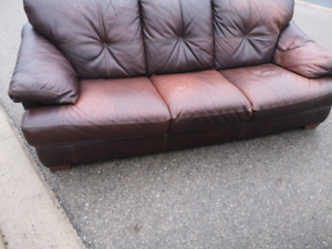 Genuine leather couch for sale