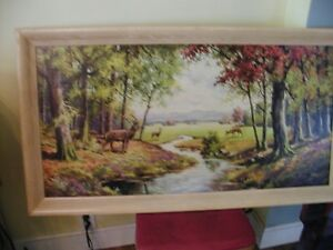 Beautiful deer scene painting