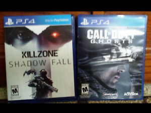 Call of Duty Ghosts and Killzone Shadow Fall - PS4