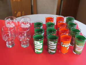 VERRES COLLECTION: EXPO BASEBALL PEPSI COLA-7UP-CRUSH-CANADA DRY
