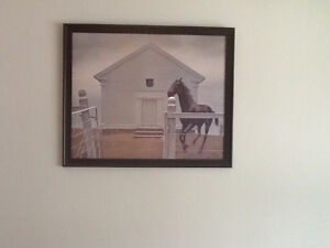 Alex colville  horse and church 35 in wide by 30 hig