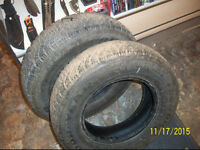 (2)  Winter  Studded tires  205/70R15 EXCELLENT SHAPE!