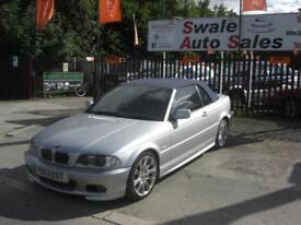 2003 BMW 3 SERIES 3.0 330CI 228 BHP PETROL 2 DOOR CONVERTIBLE VERY CLEAN FOR