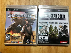 Brand New PS3 Games - Metal Gear Solid, Unchartered 3, Skyrim