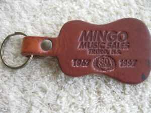 3 INTERESTING OLD GENUINE LEATHER COLLECTIBLE KEY RINGS