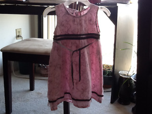 Baby girl pink summer dress, size 2
