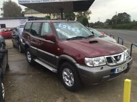 4x4 7 seater 3 litre diesel Tow bar Terrano 127,000 Full mot+Service+Warranty all included