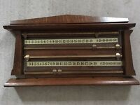 Antique 4 player snooker scoreboard