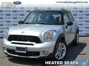 2013 MINI Cooper Countryman Base  S, Sunroof, Heated Seats