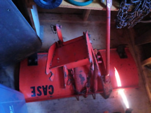 Case 444 snow plough and rototiller
