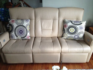 Fjord Reclining Leather Sofa and Matching Chair/Ottoman