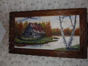 VERY LARGE OIL PAINTING PICTURE .