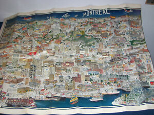 COCA COLA MAP OF MONTREAL-1983-J.L. RHEAULT-ILLUSTRATED-EXPOS