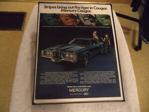 OLD MERCURY COUGAR CLASSIC CAR ADS Windsor Region Ontario image 2