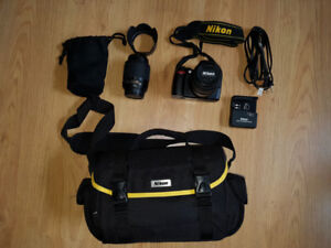 Nikon D40 DSLR complete kit (18-55, 55-200) with bag
