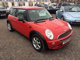 2005 MINI HATCHBACK 1.6 One LOW INSURANCE GREAT COLOUR 12 MTS WARRANTY AVAIL