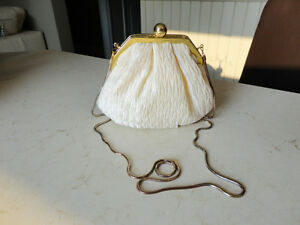 Women's Dress Purse/ handbag - Satin pleated with metal chain Kitchener / Waterloo Kitchener Area image 1