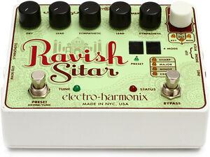 Electro Harmonix Ravish Sitar Pedal Incl. patch cables