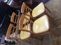 Beautiful retro dining chairs or kitchen chairs Mid Century