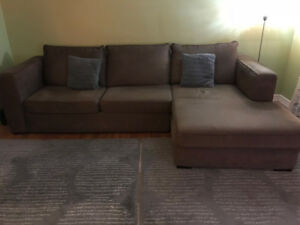 Furniture - Sectional Sofa and Loveseat