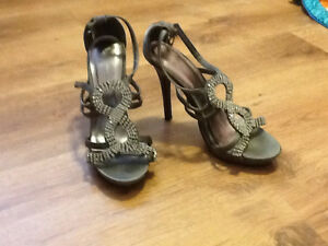 Forever 21 Strappy Silver High Heels