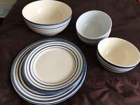 FREE: Mismatch Crockery Set bowls, plates, salad bowl