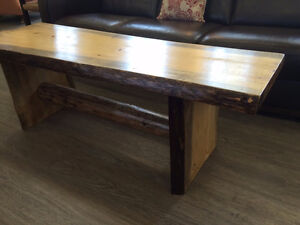 LIVE EDGE BENCH/COFEE TABLE - Wormy Pine!!!!!