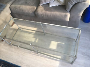 Used glass table