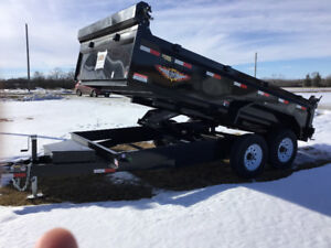 2018/14ft Hyd Scissors Dump Trailer