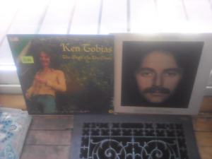 2 Ken Tobias LPs -Canadian artist- 1973 and 1975-LOOK