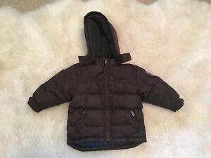 Size 2 Boys Winter Gap Jacket (dark brown)