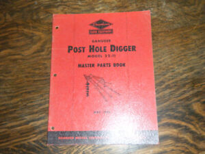Ford Dearborn Post Hole Digger May 1949 Master Parts Book