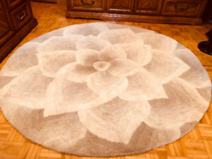 Tapis - Rugs - Pier 1 Imports - Ivory rose tufted Round 6'