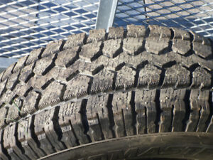 TOYOTA TACOMA STUDDED WINTER TIRES ON RIMS